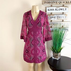 NY&CO | Magenta Wide Sleeve Dress